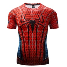 Spiderman 3D Printed T shirts Men Compression Shirts 2017 NEW Crossfit Tops For Male Fitness BodyBuilding Clothing