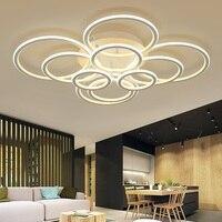 Double sided anel luminoso CONDUZIU a lâmpada do teto Para Casa Sala de estar Quarto Sala de Jantar Corredor de iluminação Luzes de Teto Do lugar do Negócio|Luzes de teto| |  -