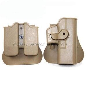 Image 4 - Тактическая охотничья кобура IMI Glock 17 19 ремень с петлей искусственная кобура для пистолета с зажимом для магазина охотничье снаряжение