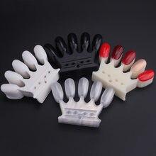 5*10 sztuk kształt korony sztuczne tipsy plastikowe polski Swatch naturalne jasne/biały/czarny paznokci paleta artystyczna wyświetlacz narzędzie do Manicure