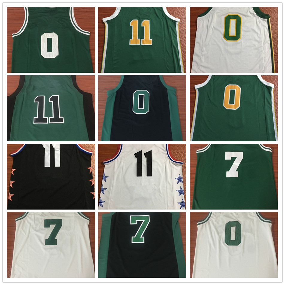 new concept 8aaed 26dae Dropshipping Men Jayson Tatum Kyrie Irving Jaylen Brown Basketball Jersey  MAN Basket Uniforms Stitched Trikots Shirts Wholesale