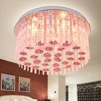Farmhouse Style Lighting Crystal Lamp E27 Led 110V 220V Princess Room Bedroom Lighting Ceramic Rose Children