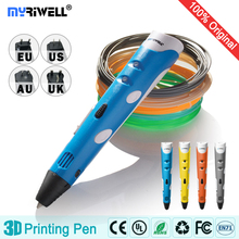 New 1st Generation DIY 3D Printer Pen for Children AU / USA UK EU Plug with PLA Wire 1.75mm Free Shipping