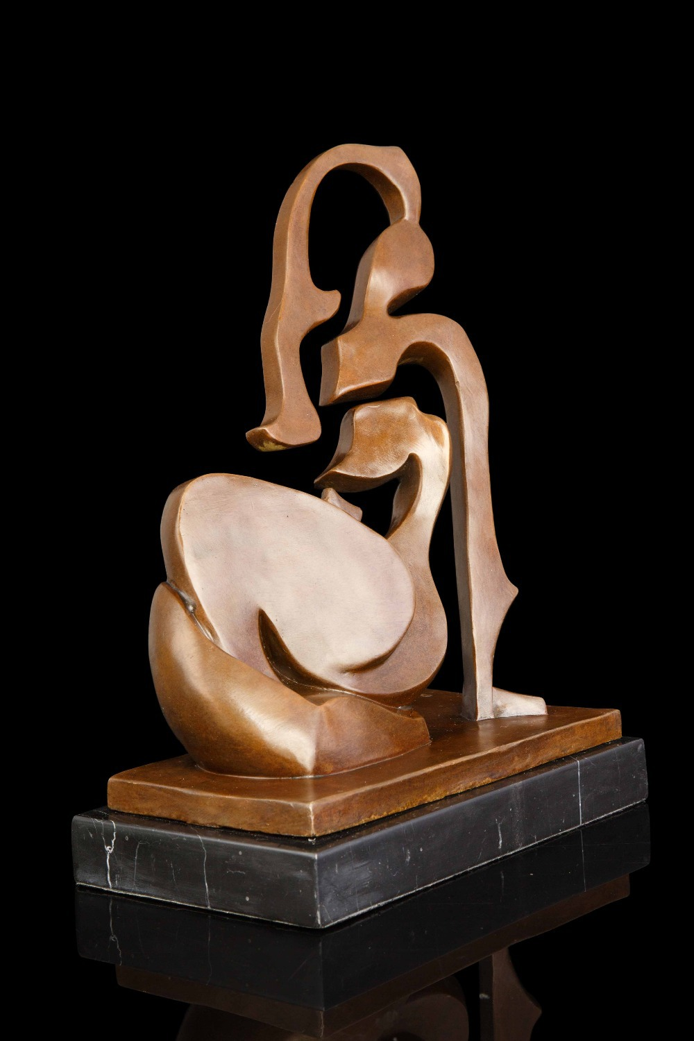Préférence ATLIE BRONZES Abstraite arts sculpture moderne Art Bronze Figurine  CS13