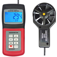 Anemometer Air Flow Speed Temperature Meter Temperature Sensor w/ Software