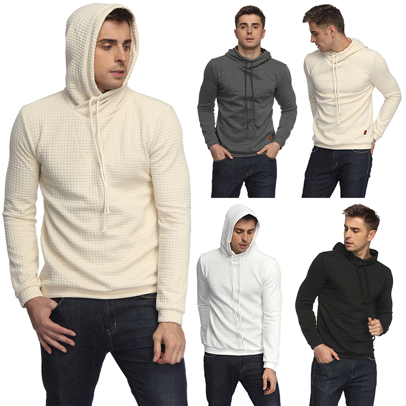 Hoodies Men 2018 Brand Male Long Sleeve Solid Color Hooded Sweatshirt Mens Hoodie Tracksuit Sweat Coat Casual Sportswear M-2XL