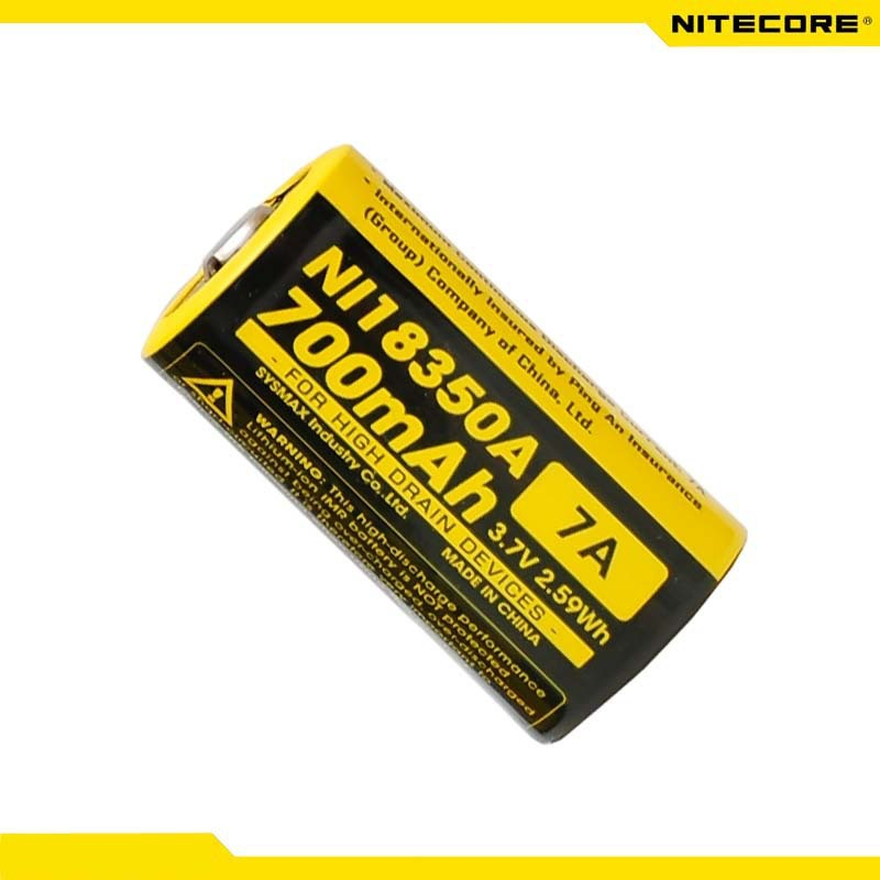 Nitecore NI18350A IMR 18350 IMR18350 700mAh 7A Battery for High Drain Devices цена 2017
