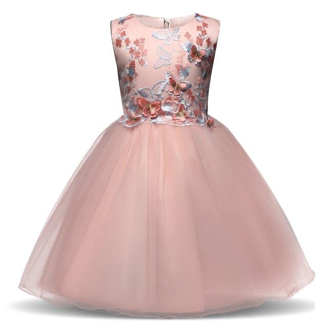 Vestido de niña de flores para la boda niños prom diseño niños ...