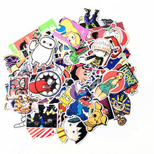 10pcs HOT SALE cool Stickers for Skateboard Laptop Luggage Snowboard Fridge Phone toy Styling Vinyl Decal