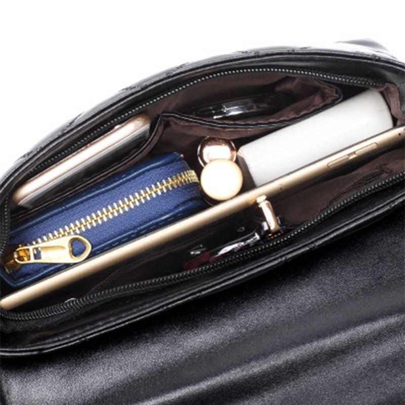 JSFINER Women Chain Mini Handbag Plaid Doctor Zipper Totes Women Shoping Plum Buckle Handbag Female Sheepskin Shoulder Bags