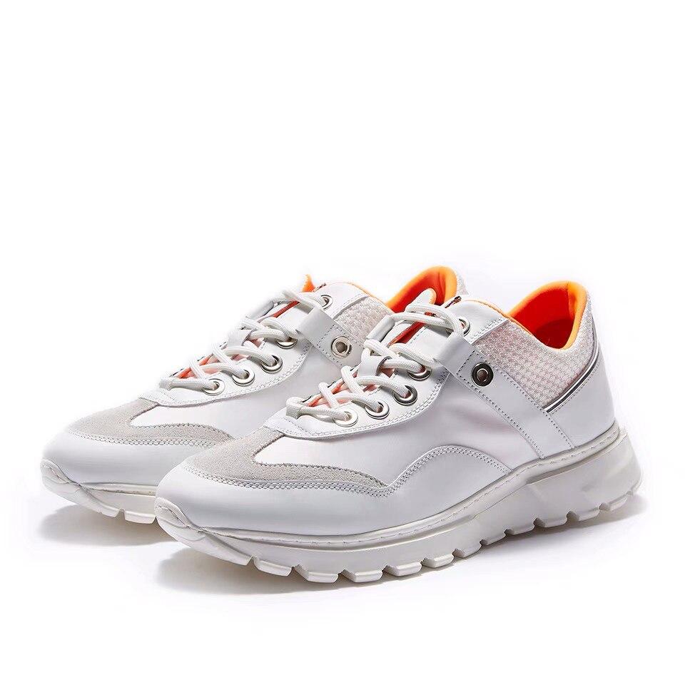 Delivr Wit Sneakers Mannen Unisex Dikke Zool Ademend Gevulkaniseerd Schoenen Masculino Adulto Papa Schoenen Hoge Platform Sneakers Mannen - 3