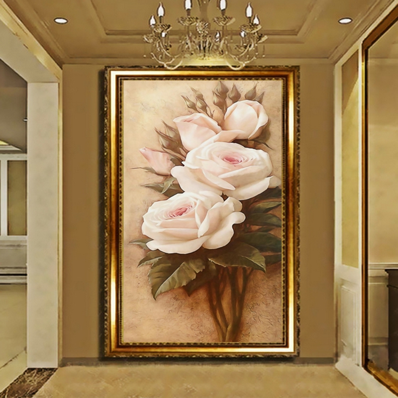 Custom Photo Mural Wallpaper Luxury Villas TV Backdrop Papel De Parede 3D Wallpaper For Walls Warm Rose Wall Papers Home Decor customize photo wallpaper rose 3d mural wall paper for living room wallpaper tv background home decor papel de parede 3d