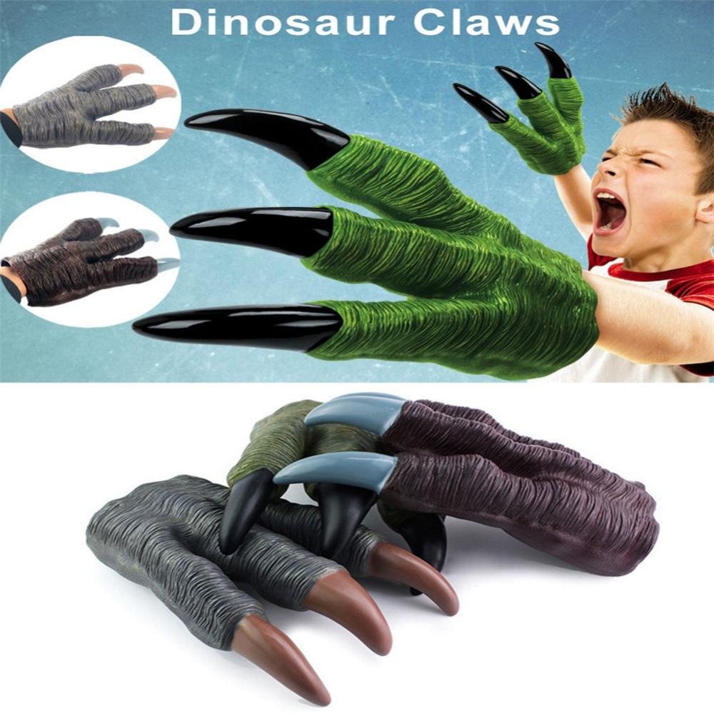 Dinosaur Claw Guanti Mani Cosplay Xmas Halloween Party Kid Trucco Prop Giocattolo Lupo Mannaro Mani per bambini e ragazzi regalo