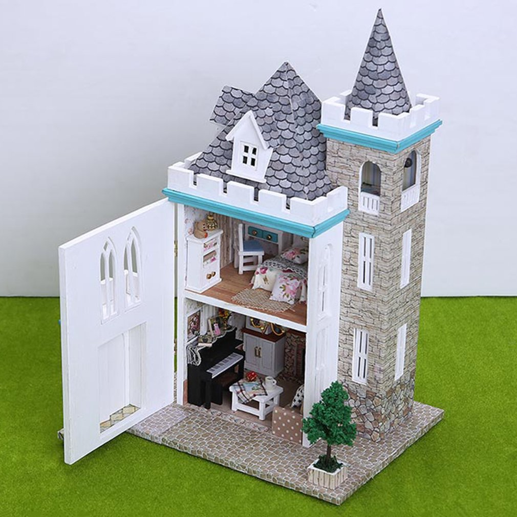 Toys & Hobbies Cheap Sale 1pc Kids Castle Model Miniature Assembly Crafting Diy Educational Artwork Gifts Building Block Toy Kits For Toy Kids Gift Model Building