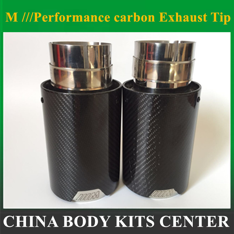 Car Styling M Label Performance Car Akrapovic Carbon Fiber Exhaust End Muffler Tips Pipes For BMW Carbon Exhaust Tip muffler tip new m performance carbon exhaust tip for bmw series m3 m4 m5 2012 car styling akrapovic car exhaust muffler nozzle tip