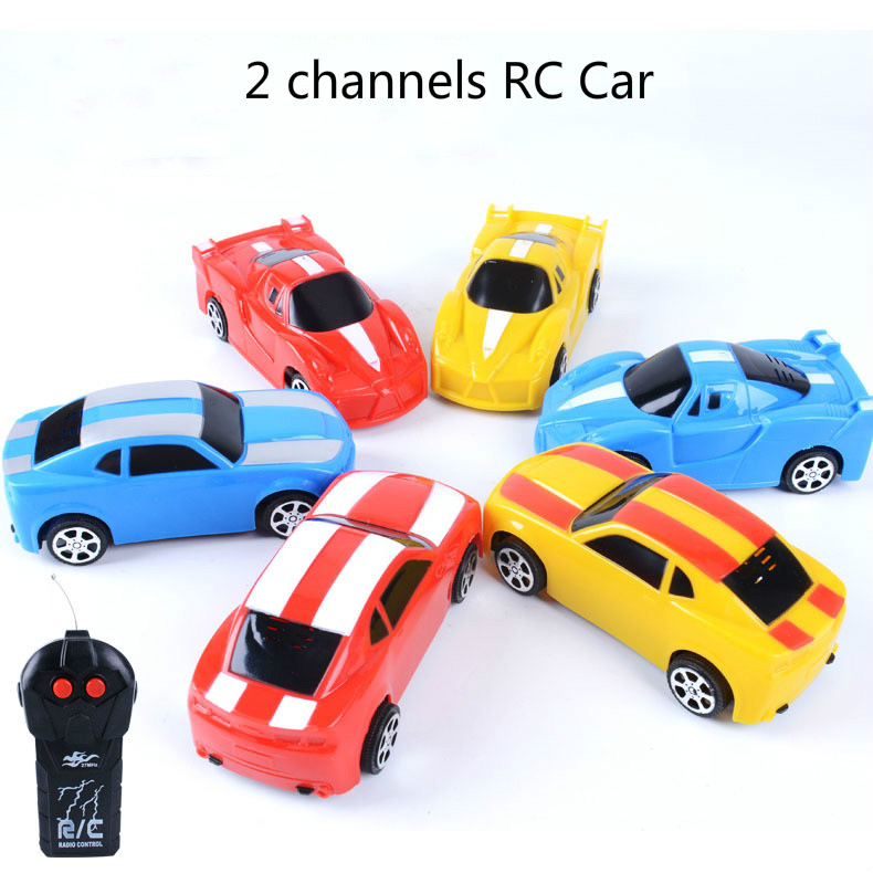 Electric Two Channels Remote Control Car Child Simulation Toy Mini RC Car Fighting Toy Kids Children Birthday Gift Random Colors