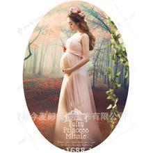 Royal Style Maternity Lace Dress Pregnant Photography Props Pregnancy maternity photo shoot long dress Fancy