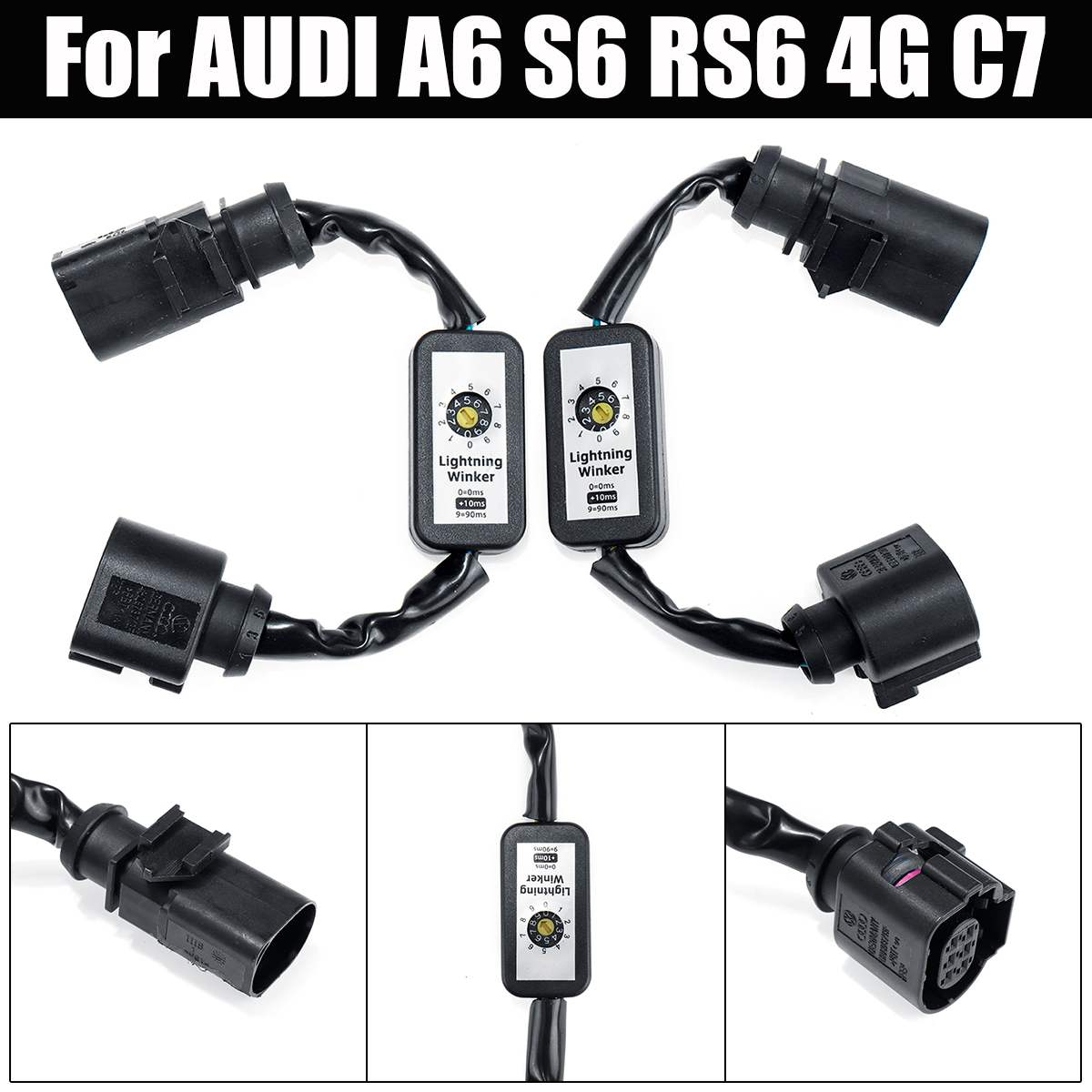 2x Dynamic Turn Signal Indicator LED Taillight Add on Module Cable Wire Harness For AUDI A6 S6 RS6 4G C7 Left&Right Tail Light