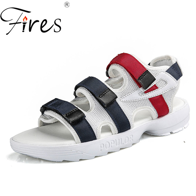 Fires Women Casual Sandals Confortable Lightweight Outdoor Shoes Ladies Slip-on Breathable Loafer Shoes Couple Summer Flat Shoes цена