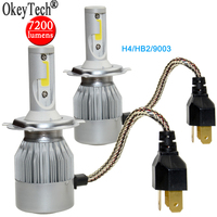 Auto Headlight Lamp Fog Light 7200LM 80W H4 9003 HB2 Hi Lo COB LED Car Headlight