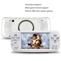 New 4.3 Inch Built-in 650 Games Handheld Game Player For CP1/CP2/GBA/FC/NEO/GEO Format Games 32Bit Portable HD Game Console