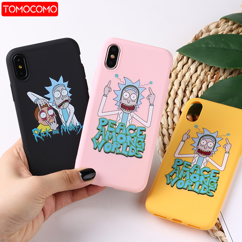 Rick And Morty Funny Cartoon Comic Meme Funny Quote  For iPhone 8 8Plus X 7 7Plus XR Xs Max Soft TPU Silicone Matte Case Fundas