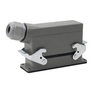 Image 5 - Industrial rectangular heavy duty connector hdc he 4/6/10/16/20/24/32/48 core 16A waterproof aviation plug top and side