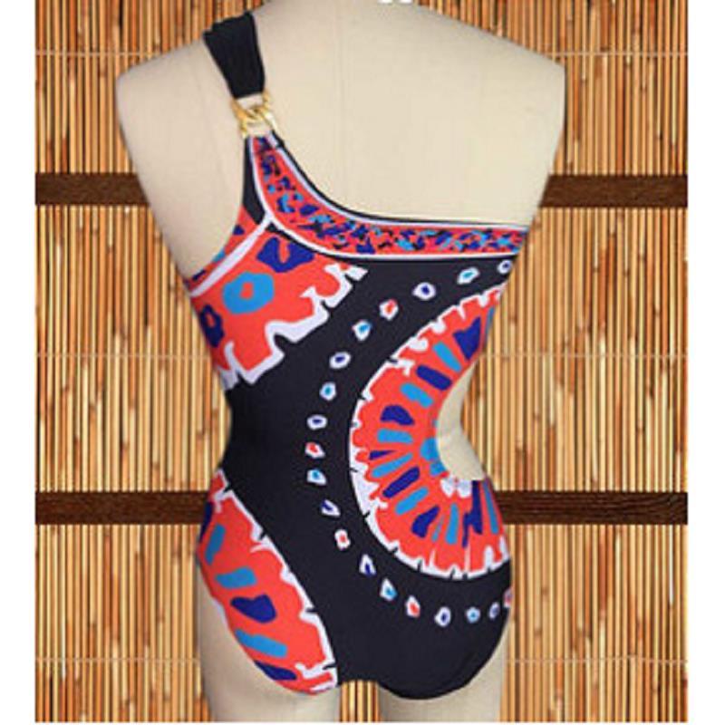 726f9333d5035 2018 Print Rushed Sale Saida De Praia One Piece Swimsuit Monokini Trina  Turk Yucateca One Shoulder Pads Wire Free Swimwear-in Body Suits from  Sports ...