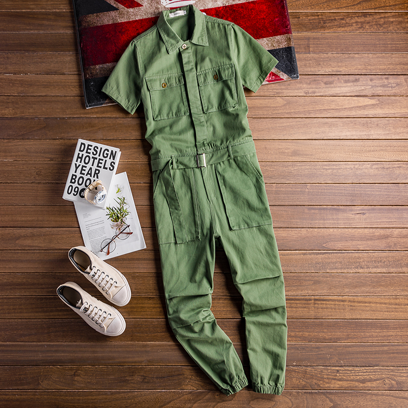 Image 2 - 2020 Summer new onesies jackets men hip hop overalls performance 