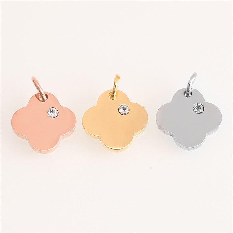 Модный Золотой/Серебряный геометрический кулон из нержавеющей стали в форме сердца и Луны для браслетов, браслетов, ожерелья, ювелирных изделий
