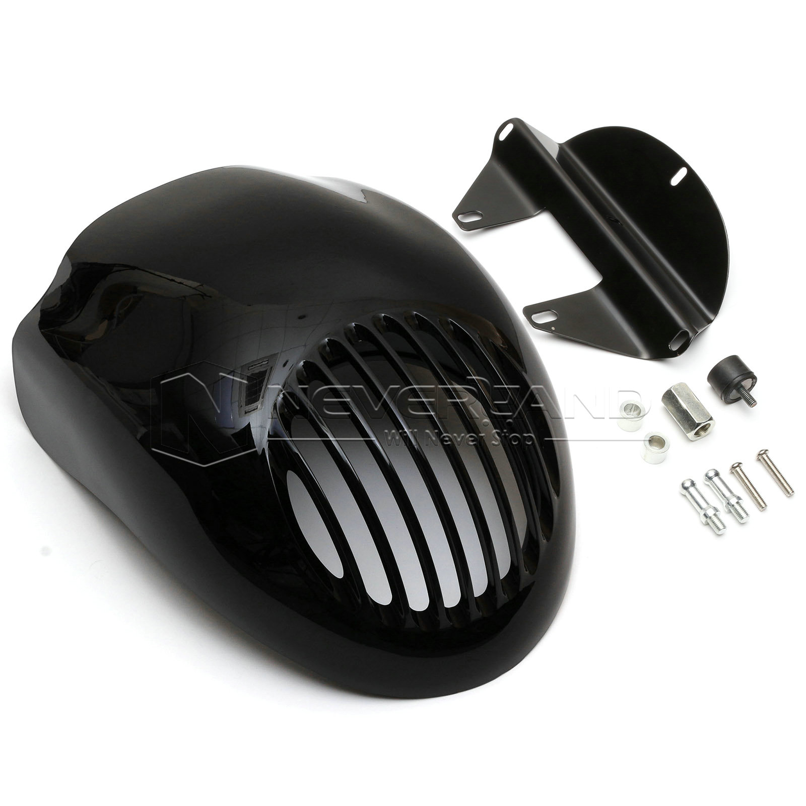 ФОТО Gloss Black Front Cowl Fork Mount Headlight Fairing Visor Grill Mask For Harley Sportster Dyna XL FX 883 Freeshipping D30