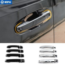 MOPAI Car Stickers for Toyota 4 Runner 2017+ Car Door Grab Handle Decoration Cover Trim for Toyota 4Runner 2017+ Car Accessories