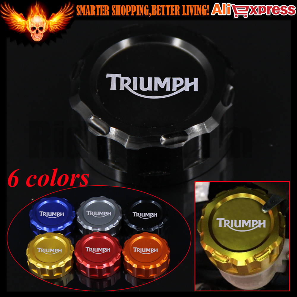 For TRIUMPH DAYTONA 675/675 R SPEED TRIPLE 1050/1050 R STREET TRIPLE  R TIGER 800 CNC Motorcycle Rear Brake Reservoir Cover Cap adjustable billet extendable folding brake clutch levers for triumph daytona 675 r 2011 2015 speed triple 1050 r 12 15 2013 2014