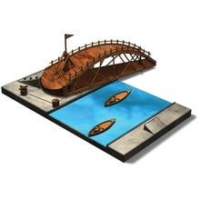 3D  DIY child puzzle toys model kits science education student puzzle toy Da Vinci manuscript assembly model collection