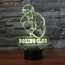 Boxer Shape LED Night Lamp 7 Colors Energy 3D Cool Holiday Gift Decorative Lights