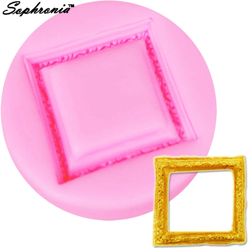Sophronia M445 Classical Frame Silicone Fondant Molds Cake