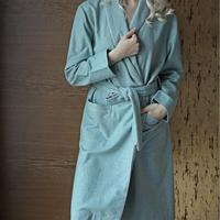 Hotel providing High Quality Gabardine Nightgown Couple Robes 3 colors Spring Solid Pajamas Women Sleepwear Family Bathrobe