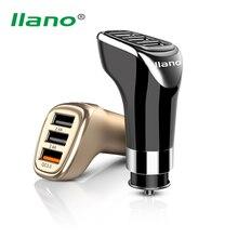 Carregador de Carro Adaptador para Rápido Llano Qualcomm Qc3.0 3 Portas Usb Adaptador para Carro Carregador Rápido Telefones Celulares Tablet PC