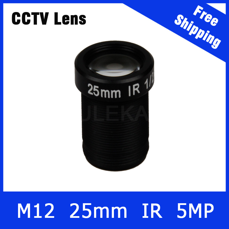 25mm cctv lens 5Megapixel Fixed M12 1/2 inch For 1080P/3MP/5MP IP camera and AHD/CVI/TVI Camera Free Shipping 3megapixel fixed m12 cctv lens 1 2 5 inch 3 6mm for ov2710 ar0230 720p 1080p ip camera or ahd cvi tvi cctv camera free shipping