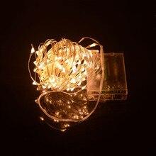 SPLEVISI Hot! 33Ft 10 M 100LED Prata Fada Luz LED String Luzes a Pilhas Guirlandas Festa de Casamento Do Feriado Do Natal(China (Mainland))