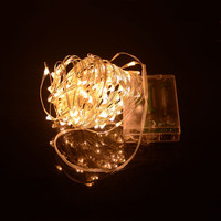 10M 80 LEDS 4 5V Silver Copper Wire LED String Light