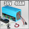 36 v elektrische fahrrad batterie, 40ah Elektrische Fahrrad lithium-Batterie mit 1500 watt BMS Ladegerät 36 v 40ah li-ion 36 v batterie pack