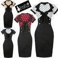 Envío libre Pin Up Rockabilly Estampado de Leopardo ropa de bettie page para juniors tamaño s-6xl de cuatro colores