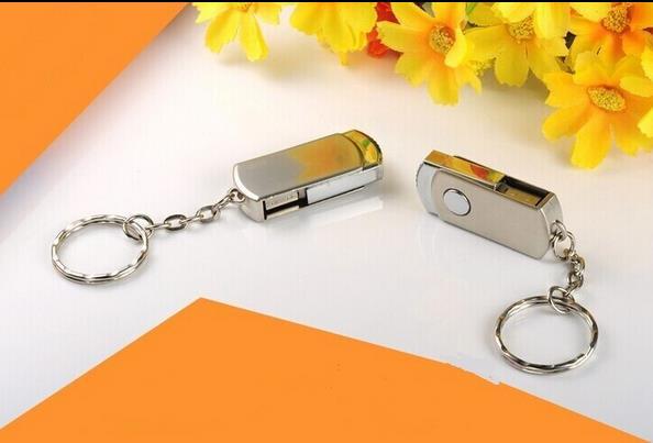 mini Stainless steel spinning USB 2.0 flash pen drive 8g 16g 32g 64g Memory Stick Thumb/Pendrive key USB Flash Drive S110#21