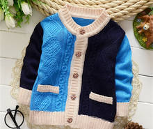 Clearance Spring vogue boys sweaters children coat cotton knitted sweater child cardigan with pocket sweater coat for boy k-1565
