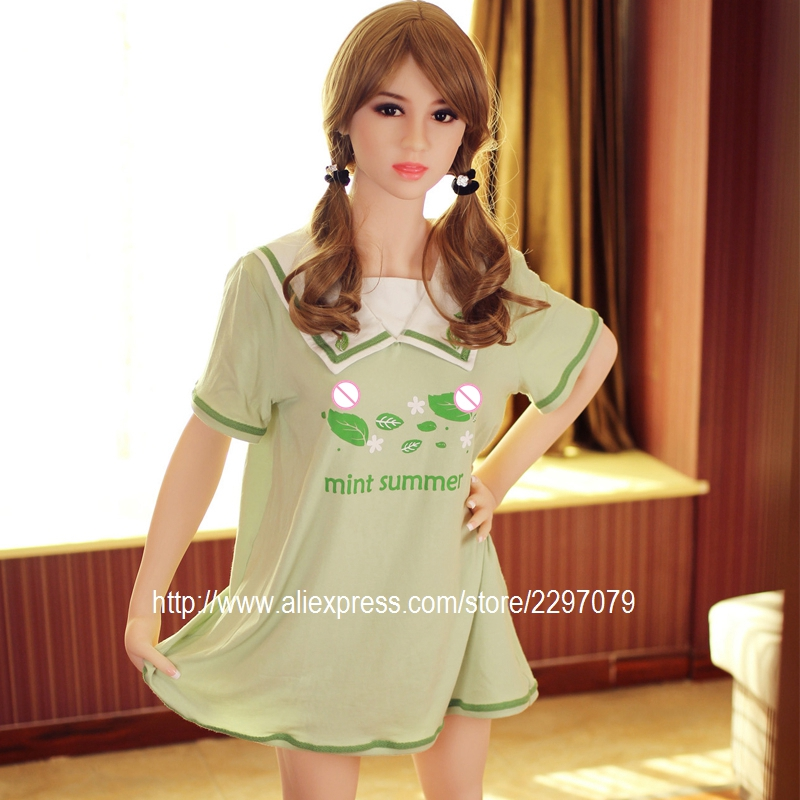 Buy New 153cm adult silicone real sex doll realistic female B cup flat chest tan skin Asian Japanese head TPE vagina oral anal love
