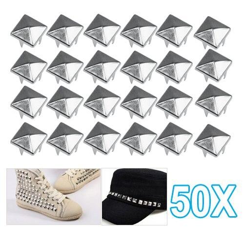 50x90 мм Пирамида квадрат nailhead шпильки Спайк гвозди-отлично подходит для DIY ремесла обувь аксессуары ...