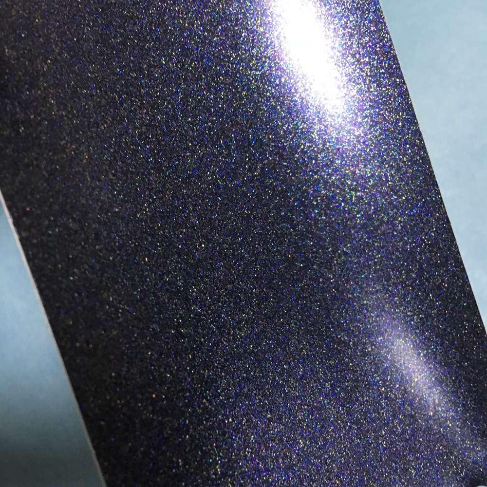 Black Metallic Matte Pearl Vinyl Car Wrap Holographic