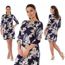 6c264455c2ce 2019 di Estate del Vestito Più Il Formato Abbigliamento Donna Elegante  Floreale Vestito Aderente Grande Formato