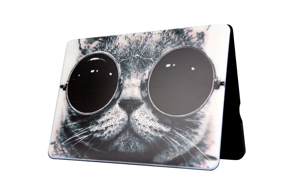 2017 cartoon cat eye pc coque for macbook air 11 13 12 pro. Black Bedroom Furniture Sets. Home Design Ideas
